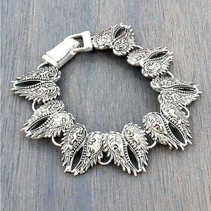 Angel Wings - Silver Magnetic Bracelet